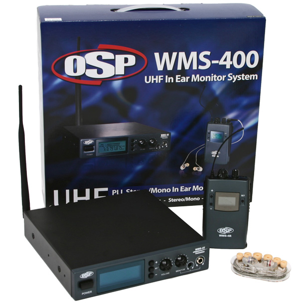 OSP WMS-400 UHF In Ear Wireless Stereo Personal Monitor System - Click Image to Close